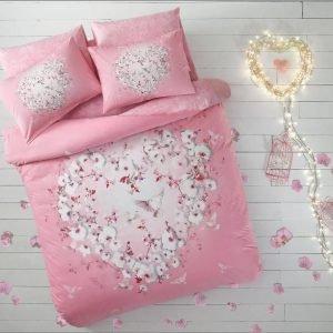 купить Светящееся постельное белье ТМ TAC Orkide Ранфорс Fluorescent Евро комплект|Двуспальное