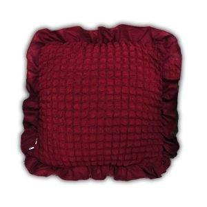 купить Декоративная подушка Love You бордо Бордовый фото