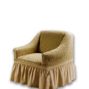 купить Чехол на кресло Love you беж Бежевый фото