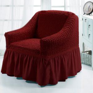 Чехол на кресло Love you бордо