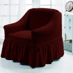 купить Чехол на кресло Love you вишня Бордовый фото