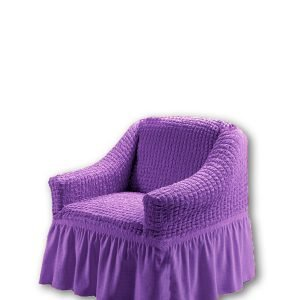 Чехол на кресло Love you лиловый