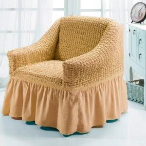 Чехол на кресло Love you натурал
