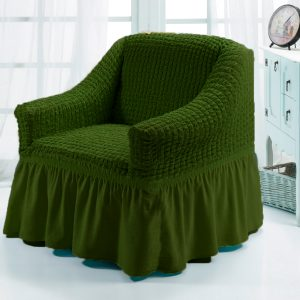 Чехол на кресло Love you олива