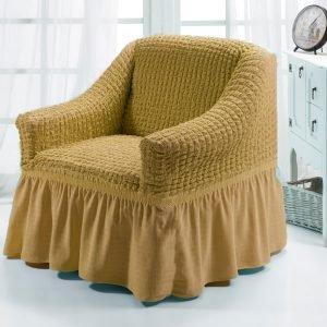 купить Чехол на кресло Love you песок Бежевый фото