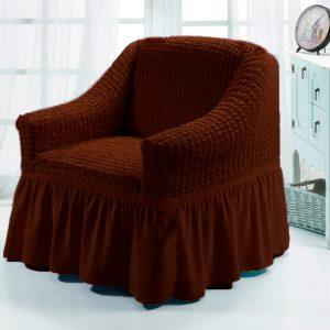 купить Чехол на кресло Love you шоколад Коричневый фото
