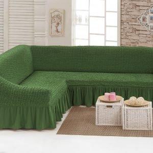 купить Чехол на угловой диван Love you олива Зеленый фото