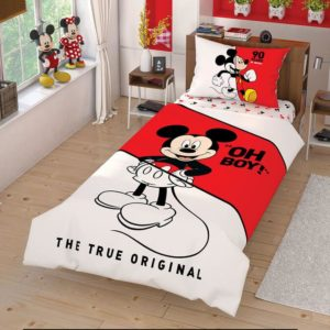 купить Детское Постельное белье Дисней Mickey Mouse Cek Ранфорс Красный фото