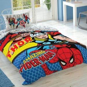 купить Детское постельное белье TAC Marvel Comics Ранфорс Красный фото