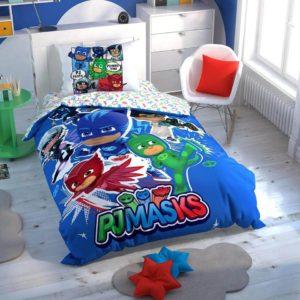 купить Детское постельное белье TAC PJ Masks Hero Ранфорс Синий фото