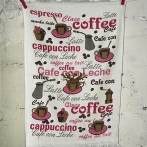 купить Кухонное полотенце Melih Coffee Розовый фото