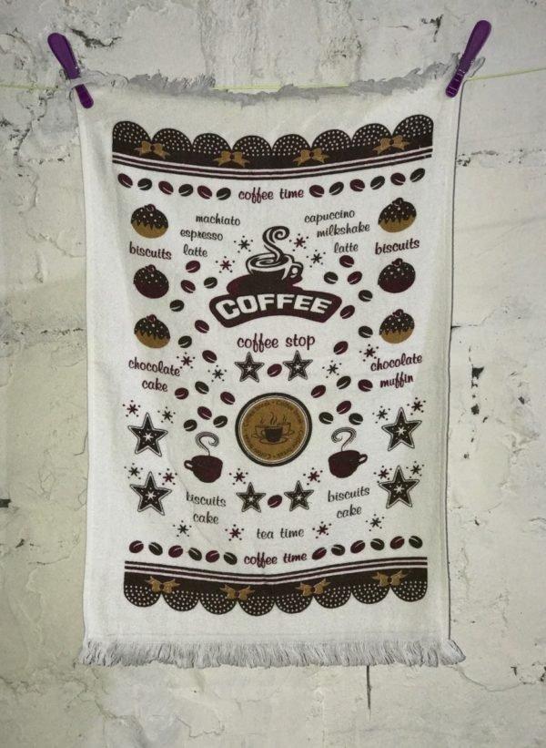 купить Кухонное полотенце Melih Coffee Time 40x60 Кофейный фото