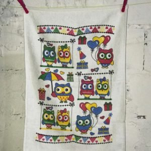 купить Кухонное полотенце Melih Happy Owls Красный фото