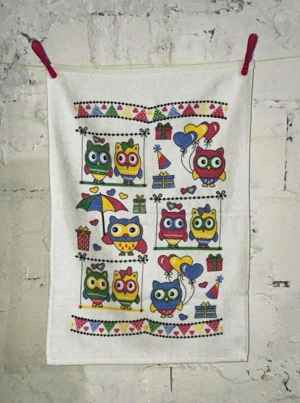купить Кухонное полотенце Melih Happy Owls 40x60 Фиолетовый фото