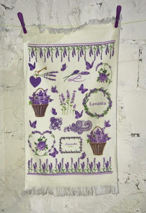 купить Кухонное полотенце Melih Lavender Festive Сиреневый фото