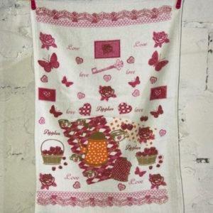 купить Кухонное полотенце Melih Love Apples Розовый фото