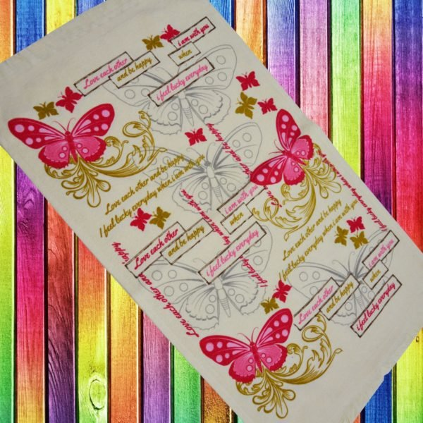 купить Кухонное полотенце Melih Love Each Other 40x60 Розовый фото