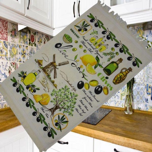 купить Кухонное полотенце Melih Olives Tree 40x60 Зеленый фото