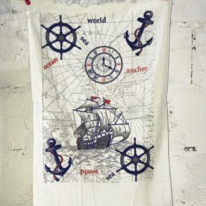 купить Кухонное полотенце Melih Sea World Синий фото