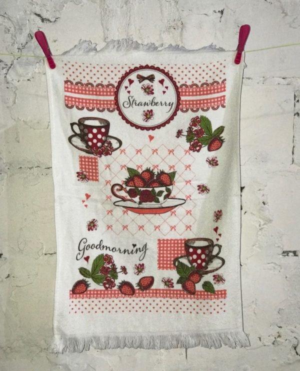 купить Кухонное полотенце Melih Strawberry 40x60 Красный фото