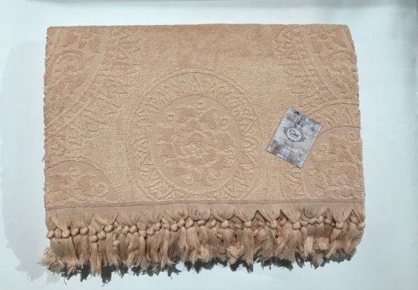купить Махровая простынь Пике Sikel Hitit somon Бежевый фото