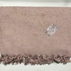 купить Махровая простынь Пике Sikel Lilym (Penye) Sacakli pudra Розовый фото