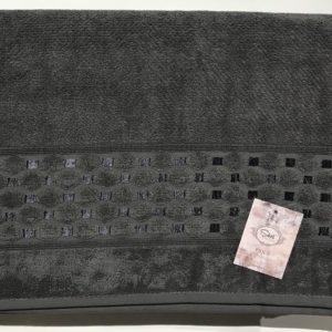 Махровая простынь Пике Sikel Silver antrasit 200×220