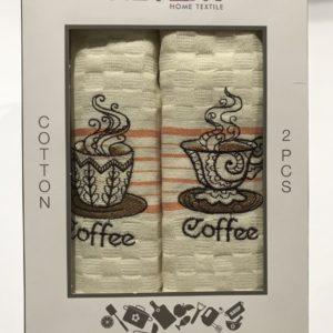 Набор кухонных полотенец Meteor Coffee V01 2 шт 40×60