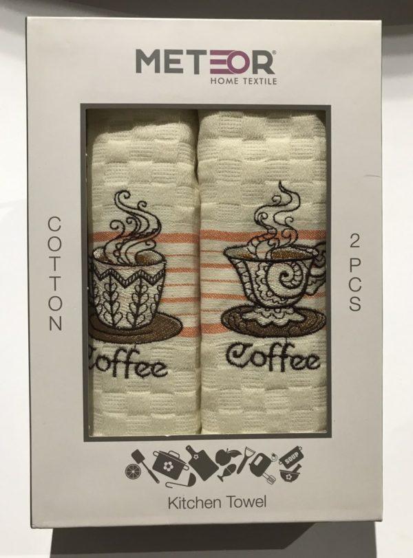 купить Набор кухонных полотенец Meteor Coffee V01 40x60 2 шт  фото