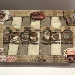Набор кухонных полотенец Pelins Cofe de Paris 7 шт 40×60