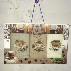 Набор кухонных полотенец Swan Fasion I Love Coffee V01 40×60