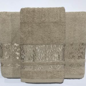 Набор махровых полотенец Gold Soft Life Kamilla beg 50×90|70×140