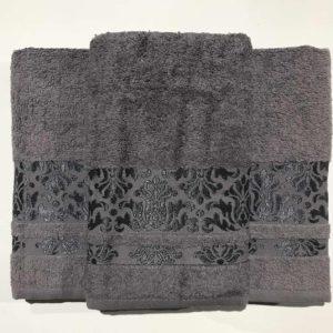 Набор махровых полотенец Gold Soft Life Kamilla black 50×90 70×140