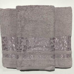 Набор махровых полотенец Gold Soft Life Kamilla grey 50×90|70×140