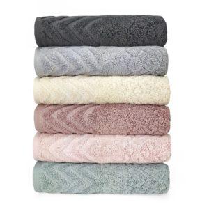 купить Набор махровых полотенец Sikel жаккард Anemon 6 шт  фото