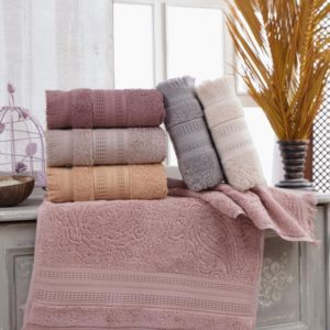 купить Набор махровых полотенец Sikel жаккард Asmali konak 6 шт  фото