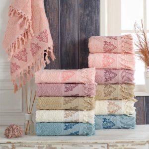 купить Набор махровых полотенец Sikel жаккард Damask 6 шт  фото