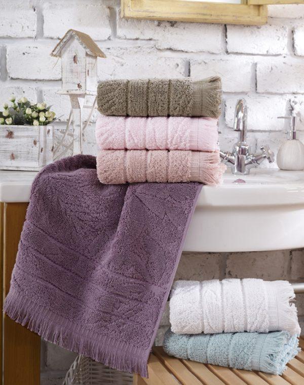 купить Набор махровых полотенец Sikel жаккард Miama Lux 6 шт  фото
