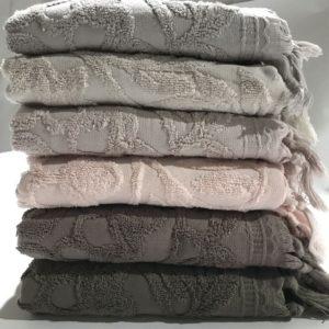 купить Набор махровых полотенец Sikel жаккард Sacakli Barberry 6 шт  фото