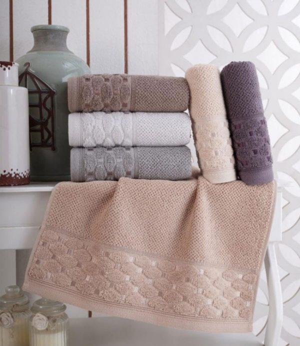купить Набор махровых полотенец Sikel жаккард Silver 6 шт  фото