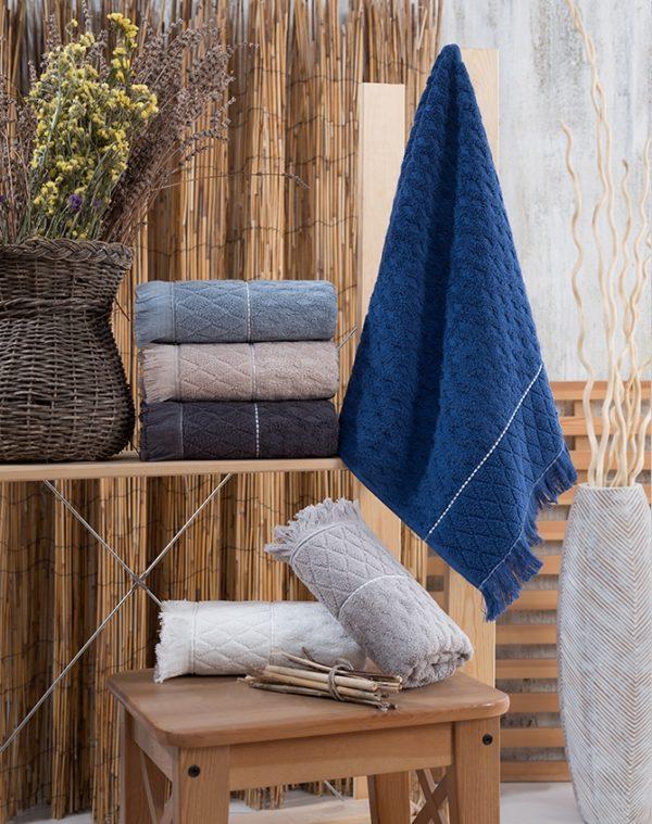 купить Набор махровых полотенец Sikel жаккард Yakut 50x90 6 шт  фото