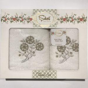 Набор махровых полотенец Sikel 3D Lux Daisy 50×90 70×140