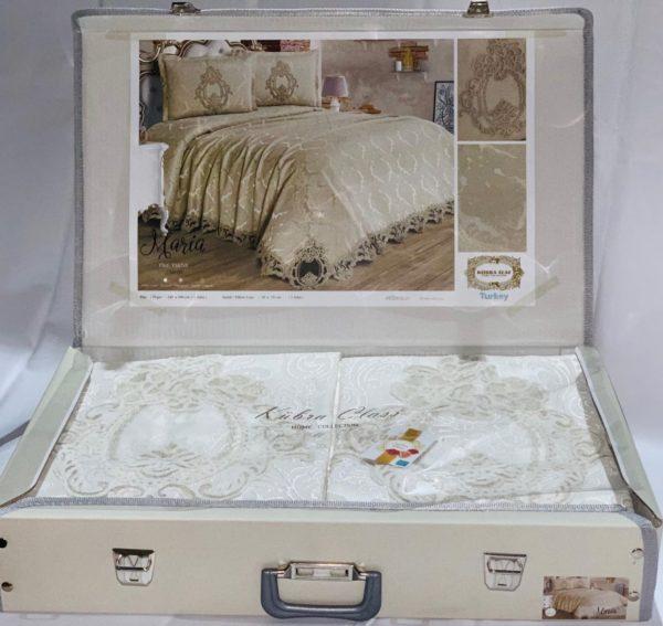 купить Покрывало с наволочками Kubra Class Marie White Белый фото