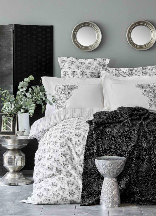 купить Постельное белье с пледом Karaca Home Brave silver 2020-1 Серый фото