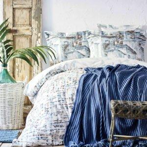 купить Постельное белье с пледом Karaca Home Vella mavi 2020-1 Голубой фото