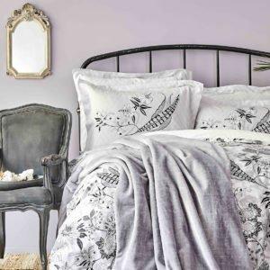 купить Постельное белье с покрывалом Karaca Home Arden siyah 2020-1 Серый фото
