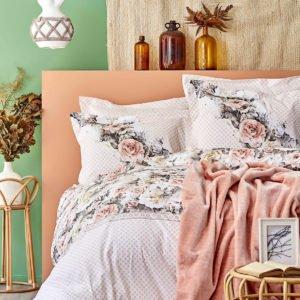 купить Постельное белье с покрывалом Karaca Home Elsa somon 2020-1 Розовый фото