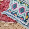 купить Постельное белье с покрывалом Karaca Home Mishka fusya 2020-1 Бирюзовый фото 55741