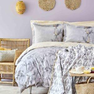 купить Постельное белье с покрывалом Karaca Home Veronica gri 2020-1 Серый фото