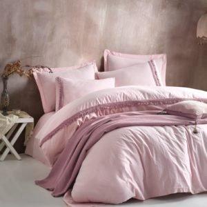 купить Постельное белье Cotton Box Nature Series Pembe Розовый фото